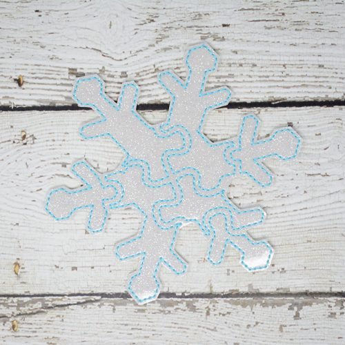 Snowflake Puzzle with Storage Pouch