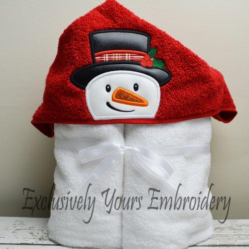 Snowman Hooded Towel