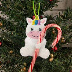 Unicorn Cane Holder Ornament
