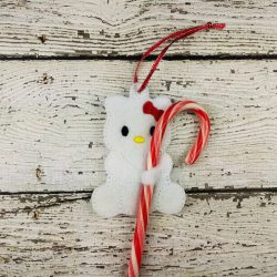 Kitty Cane Holder Ornament