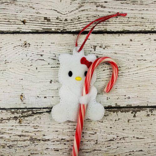 Kitty Cane Holder Ornament