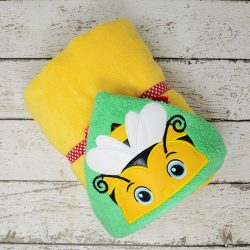 Bumblebee Boy Hooded Towel