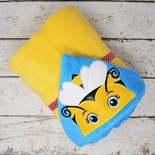 Bumblebee Girl Hooded Towel