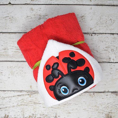 Ladybug Hooded Towel
