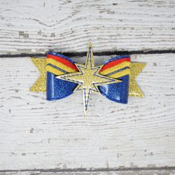 Captain Marvel Hair Bow