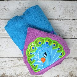 Peacock Hooded Towel