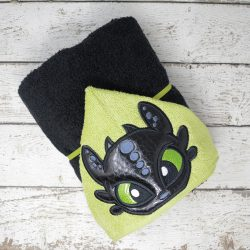 Black Dragon Hooded Towel