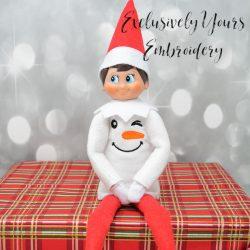 Snowman Face Elf Sweater