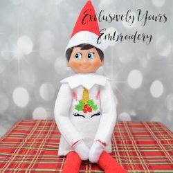 Holly Unicorn Face Elf Sweater