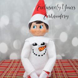 Snowman Face Elf Sweater 2