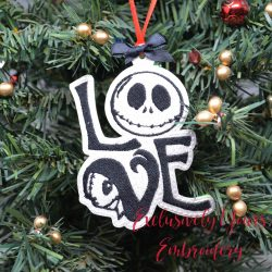 Jack and Sally Love Ornament