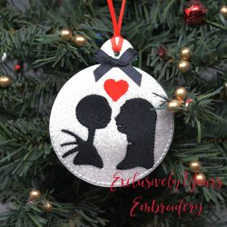 Jack and Sally Round Ornament