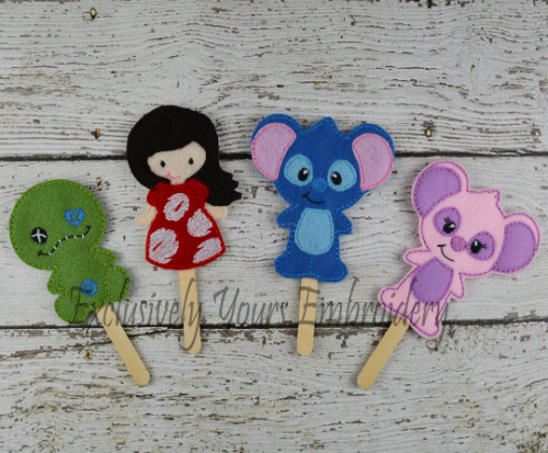 Lilo and Stitch Stick Puppet Set
