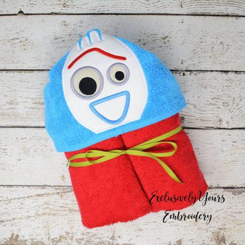 Toy Spork Hooded Towel