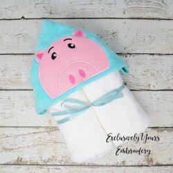 Toy Pig Hooded Towel