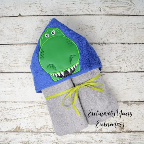 Toy Dino Hooded Towel