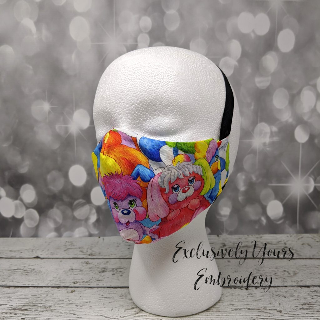 Colorful Pups Fabric Face Mask