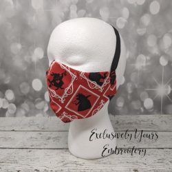 Red Queen Fabric Face Mask