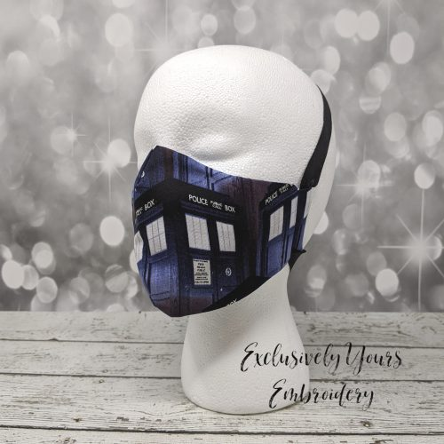 Police Box Fabric Face Mask