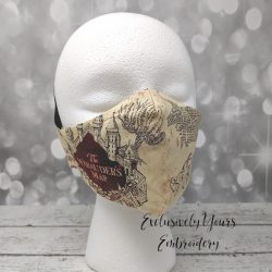 Wizard Map Fabric Face Mask