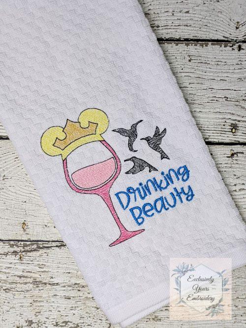 Drinking Beauty Kitchen Towel